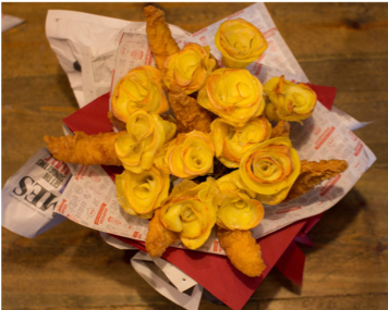 Simpsons Launch World's 1st Edible Fish & Chip Bouquet for Valentine's Day
