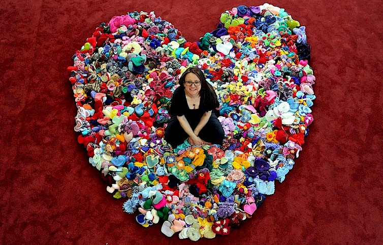 20,000 Knitted Hearts Sent From Across the Globe for Unique RHS Malvern Knitted Show Garden Installation
